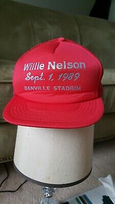 5b7f88695 WILLIE NELSON & Family Vintage Country Music 80s Trucker Hat ...