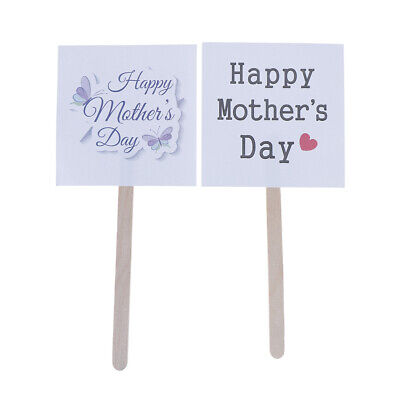 5pcs/set Happy Mother's Day CupCake Cake Toppers Cake Flags Party Decor XM