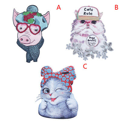 Cat pig Embroidery Cloth Patches DIY Patches Sew on Clothes Applique XM