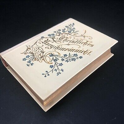 Antique German Christian Book BEAUTIFUL Small Religious Book Embossed Gilt Pages
