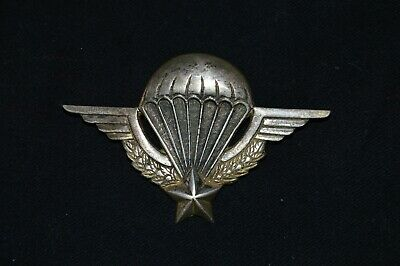 Brevet Parachutiste Sans Marque-Dos Lisse-French Paratrooper Badge-Indochine