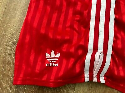 Adidas vintage 80s made in Yugoslavia Red USSR Style football shorts size D8 (L)