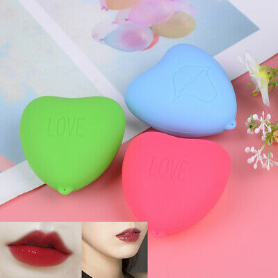 1PC Lips Plumper Tool Suction Cupping Cups Silicone Lip Pump Heart Shape XM