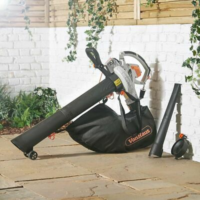 3-In-1 GARDEN LEAF BLOWER - Blows, Vacuum Hoover & Mulches Leaves 35L Bag 3000W