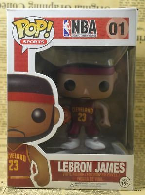 Funko Pop Sports NBA Figures Lebron James 01 Red Vinyl Figure Without Box