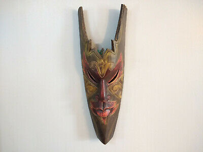 Hand Made Tribal Style Wall Hanging Wood Mask Home Decor 50cm