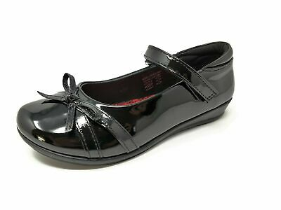 US Brass Girls Kids Childrens Black Patent Mary Janes School Shoes Size 8-2