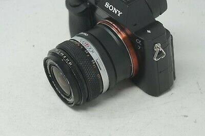 SONY E MOUNT ADAPTED Olympus OM Mount Auto-W 35mm 2.8 WIDE PRIME LENS ALL A7 NEX