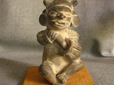 Pre Colombian Seated Pottery Figure