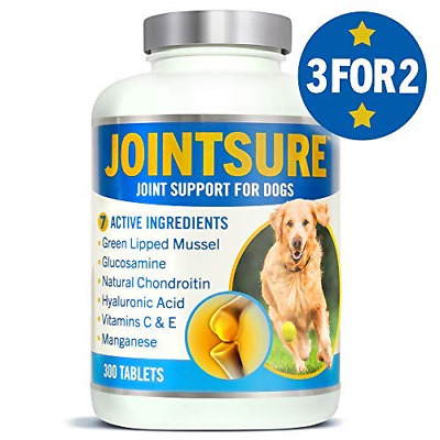 JOINTSURE Joint supplements for dogs. Advanced formula with Green Lipped Mussel,