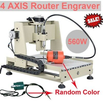 560W ! 4 Axis 3040 CNC Router Engraver Engraving Machine VFD Woodworking Caving