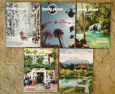 Lot 5 LONELY PLANET MAGAZINE Subscriber Cover Los Angeles Amsterdam Europe 2018