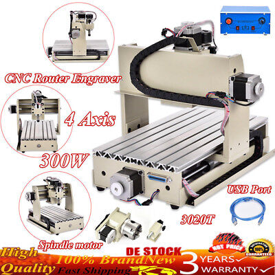 3020T USB CNC Router Engraver 4 Axis Engraving Machine 300W Cutting Best !!