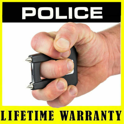 POLICE BLACK 510 78 BV Rechargeable Self Defense Stun Gun + Taser Case