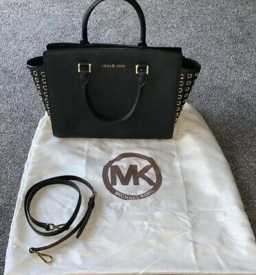 b180277b06dd4 Genuine Women's Michael Kors selma Satchel Saffiano Leather handbag sales  hot.