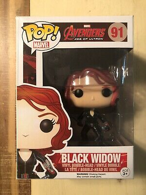 Funko Pop! Marvel #91 Black Widow Avengers 2 Age Of Ultron Vaulted!