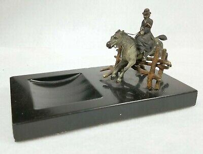 Antique Miniature Austrian or French Bronze Steeplechase Woman on Side-Saddle