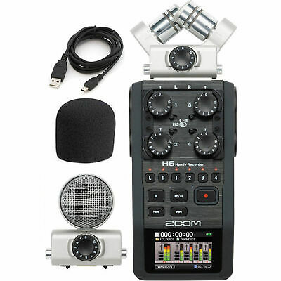 ZOOM H6 HANDY Recorder with Knox Boom Arm and Memory Card