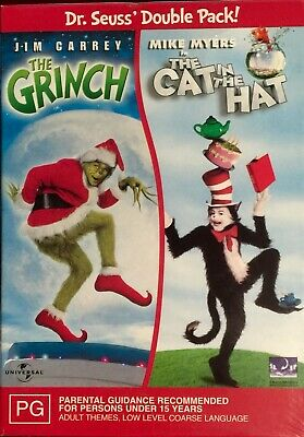 The Grinch  / Cat In The Hat (DVD, 2004, 2-Disc Box Set) BRAND NEW & SEALED