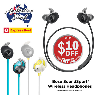 The New Bose SoundSport Wireless Bluetooth Headphones / Earphones - Express Post