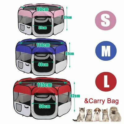 8 Panel Pet Dog Playpen Exercise Cage Puppy Enclosure Fence Rabbit Play Pen Tent