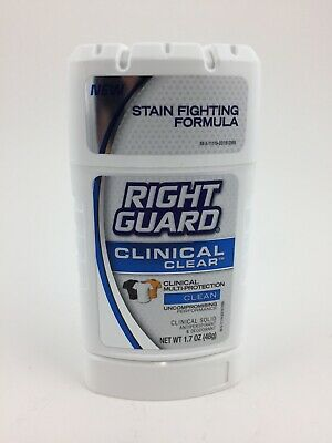 Right Guard Antiperspirant & Deodorant - Clinical Clear Clean - 1 Stick 1.7 oz