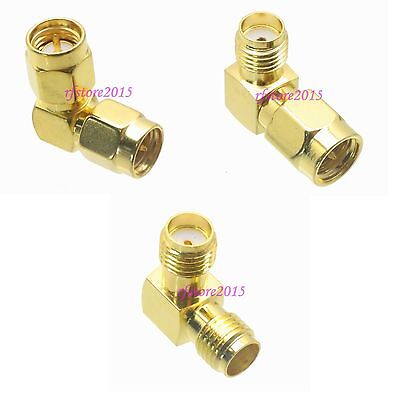 10pcs Adapter Connector SMA to SMA right angle for Wifi Antenna