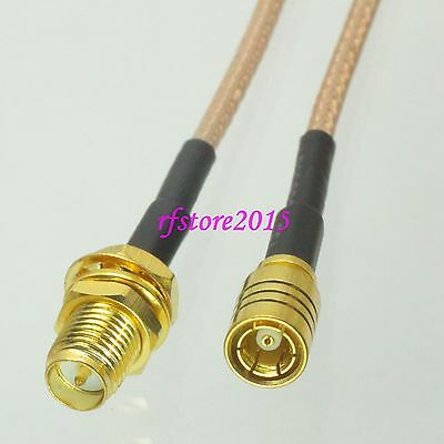Cable RG316 6inch RP-SMA female bulkhead to SMB female jack RF Pigtail Jumper