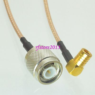 Cable RG316 6inch TNC male plug to SMB female jack 90° RF Pigtail Jumper