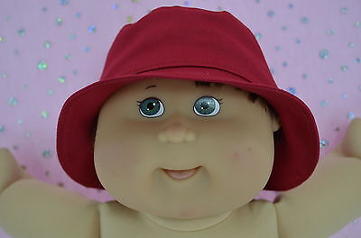 """Play n Wear Dolls Clothes For 16"""" Boy Cabbage Patch RED DRILL SUN HAT"""