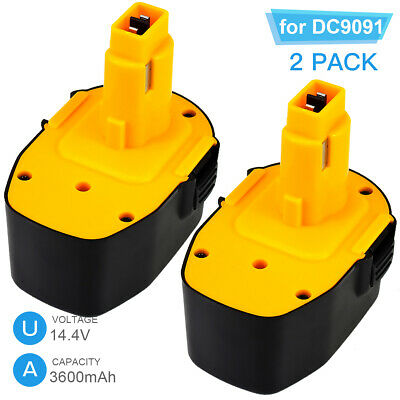 3600mAh DW9091 Replace for Dewalt 14.4V Battery NI-MH DW9094 DC9091 DE9038 Tools