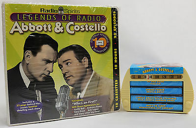 Legends of Radio Abbott and Costello 2 Item Cassette Package- 14 Tapes, 26 Shows