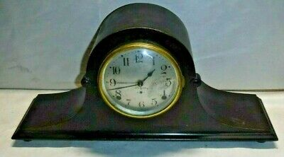 Antique Seth Thomas 8 Day Tambour Chime Clock Desk, Boudoir, Mantle Working