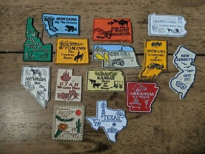 Lot of 14 VTG 1970s State Travel Rubber Flexible Refrigerator Magnets MCL USA