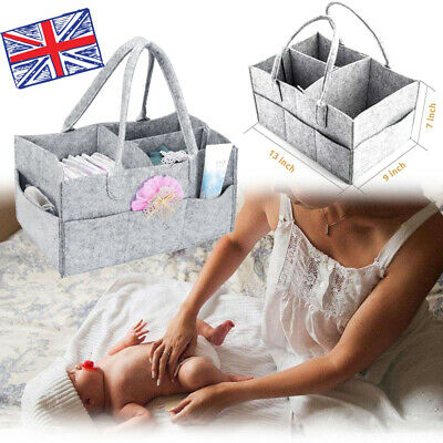 Baby Diaper Wipes Bag Caddy Infant Nappy Organizer Basket Nursery Storage Bin