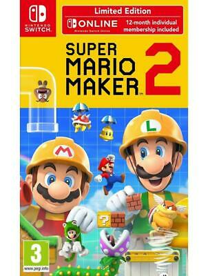 Super Mario Maker 2 Nintendo Switch Limited Abbonamento Switch Online 12 Mesi