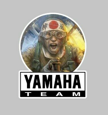 Team Yamaha Motorcycle kamikaze Japan Sticker Badge tank Fairing zero