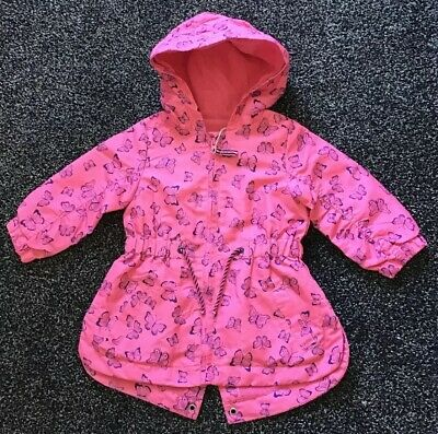 Mothercare Baby Girls Shower Resistant Summer Coat Age 9-12 Months New With Tags