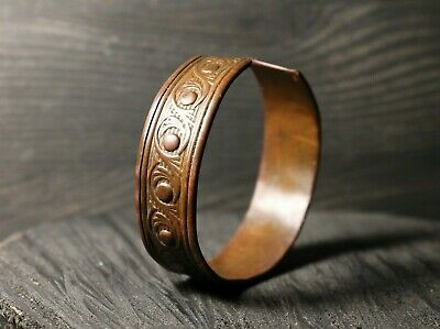 Rare Ancient Copper Bracelet, Authentic Artifact, 16th-19th Century AD.