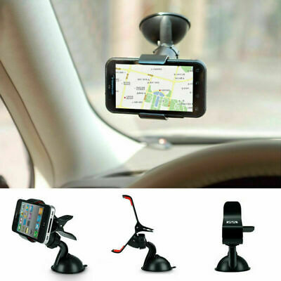 Universal In Car Mobile Phone Sat Nav Pda Holder With Locking Suction Mount Uk