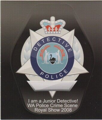 WA Police  Junior Detective sticker