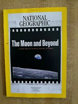 National Geographic Magazine The Moon And Beyond Space Travel