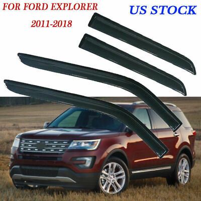 Door Window Visor Rain Guard Wind Shield for Ford Explorer 2011-2019 US QD09