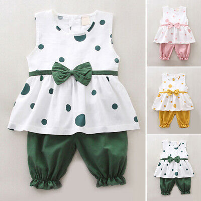 Kids Tops+Shorts Baby Party Summer Crew neck Casual Fashion Girl Toddler 2019