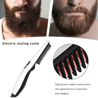 Electric Men Beard Hair Comb Curling Brush Styler Straightening Comb Styling