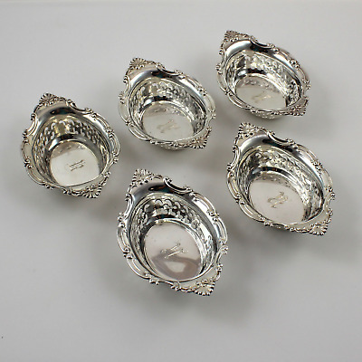 "Gorham A4780 Sterling Silver Nut Bowls - 3 7/8"" - Set of 5 - w/Monogram"