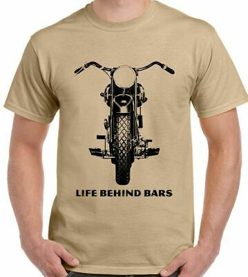 Mens Funny Biker T-Shirt Motorcycle Motorbike Indian Triumph Chopper Cafe Racer