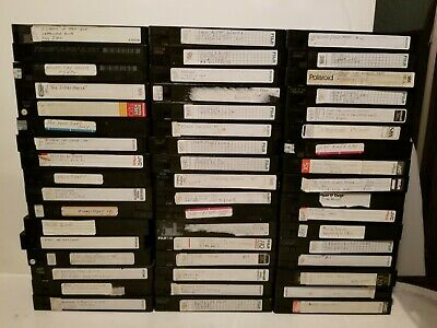 Lot of 101 Blank VHS Tapes Pre-Recorded Movies TV 80s 90s Found Footage Vintage