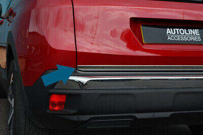 Chrome Rear Door Tailgate Trim Strip Cover To Fit Peugeot 3008 (2017+)