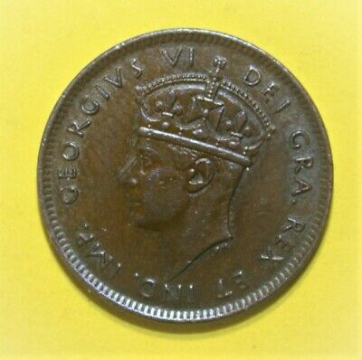 Canada Newfoundland 1 Cent 1941-C Extremely Fine + Copper Coin - King George VI
